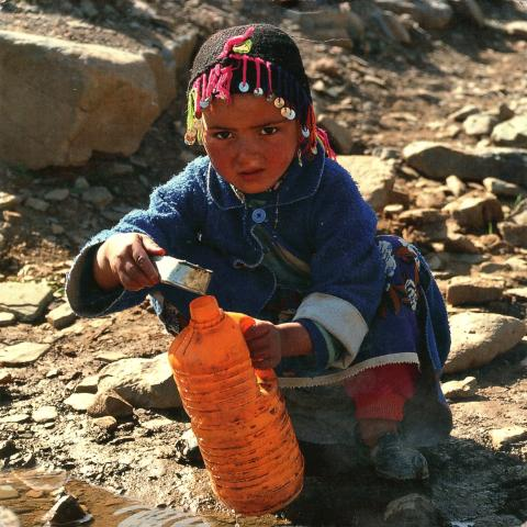 A girl in high Atlas mountains.